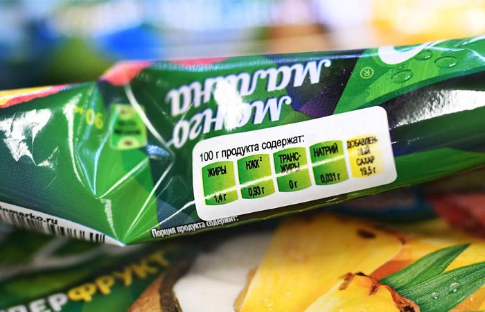 Зеленая маркировка на продукте