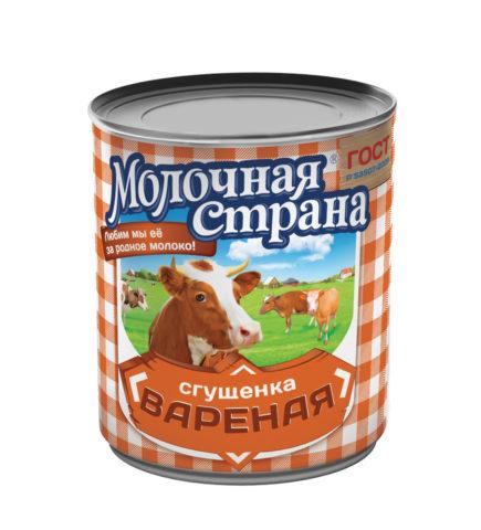 Сгущенное молоко «Молочная страна»