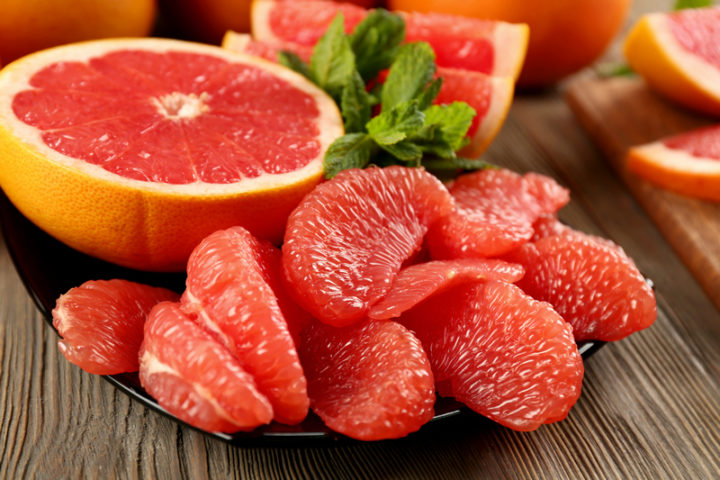 Почищенный грейпфрут