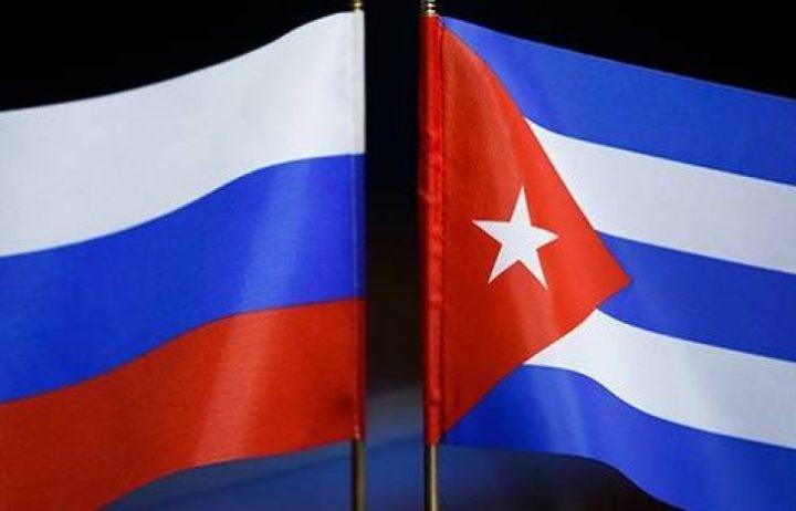 Флаги России и Кубы