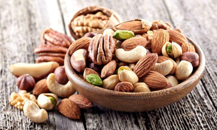 Грецкие орехи, миндаль, фундук и фисташки