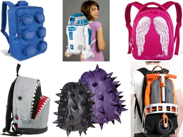 Разные виды рюкзаков