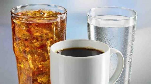 Кола, кофе и вода