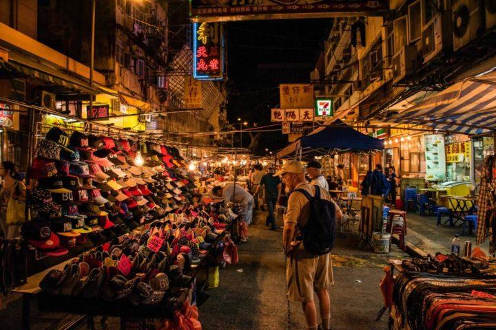 Рынок в вечернее время