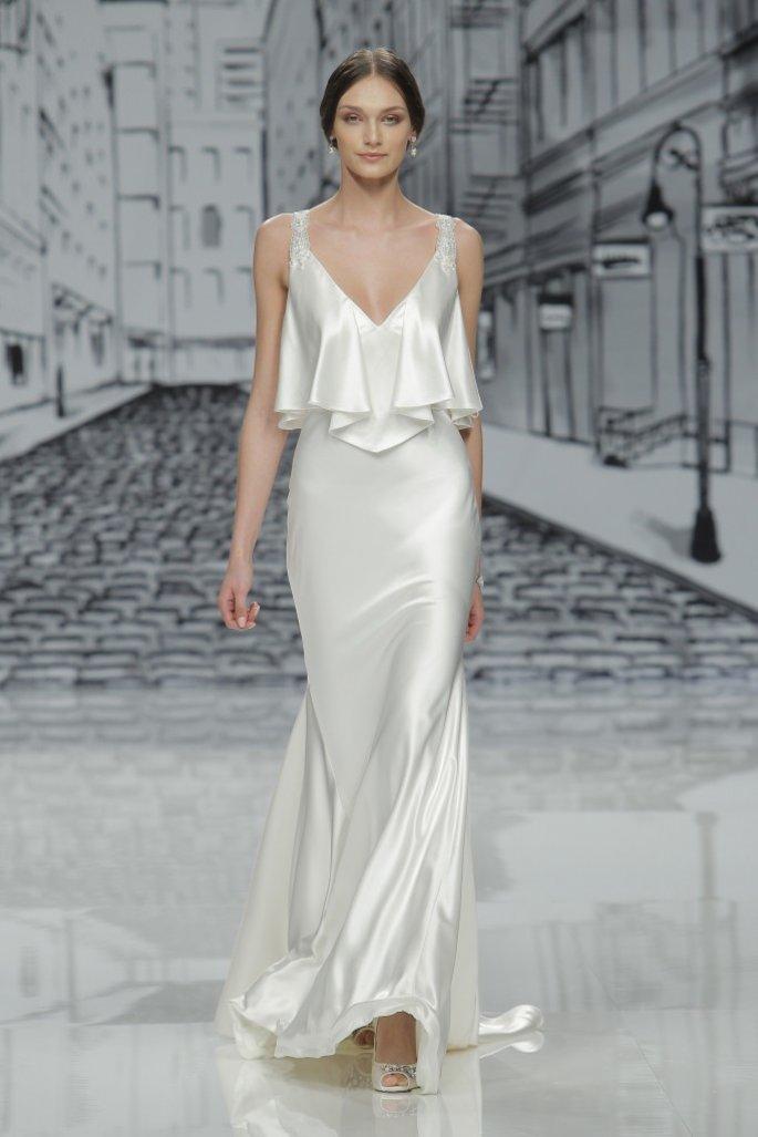 Невеста в платье-комбинации