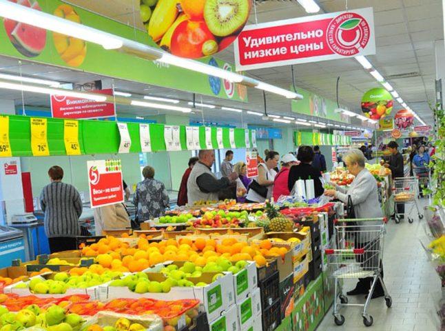 "Внутри магазина ""Пятерочка"""