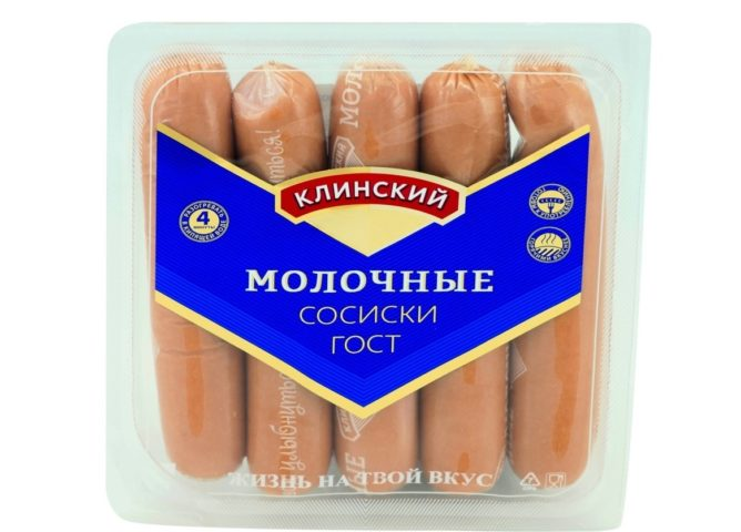 """""""Клинский"""" молочные сосиски"""