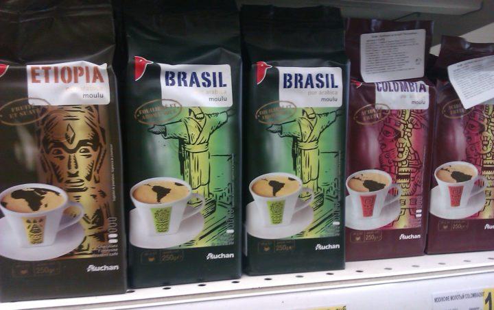 «Auchan Brasil pur Arabica moulu»
