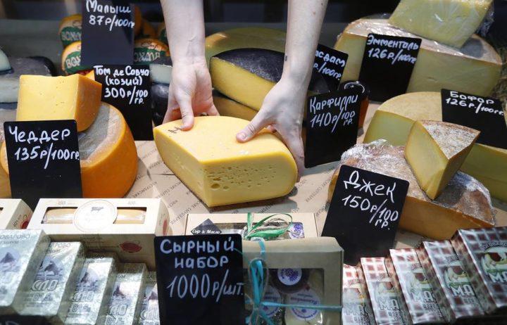 Виды сыра на прилавке
