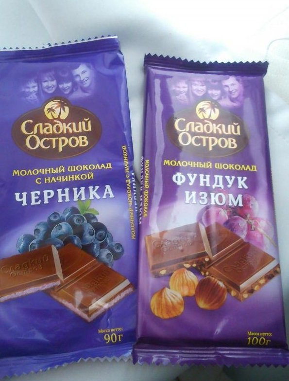 """Молочный шоколад """"Сладкий остров"""""""