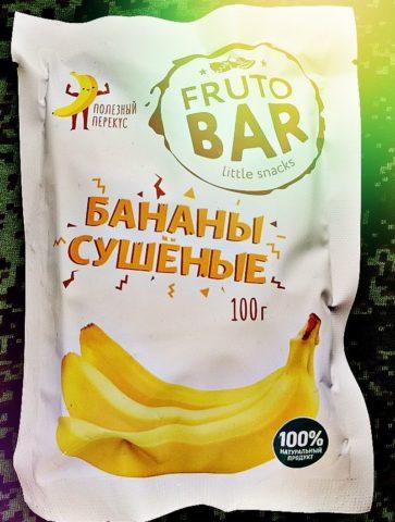 Fruto BAR Сушеные бананы
