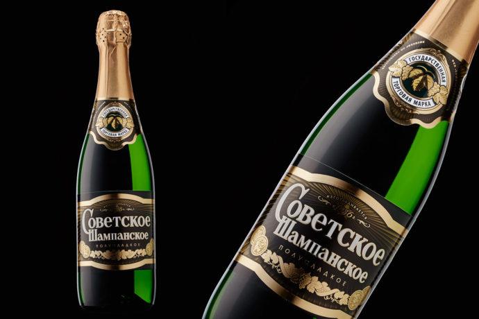 Советское шампанское «Росинка»