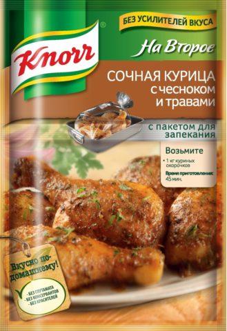 «Knorr НА ВТОРОЕ», Сочная курица с чесноком и травами