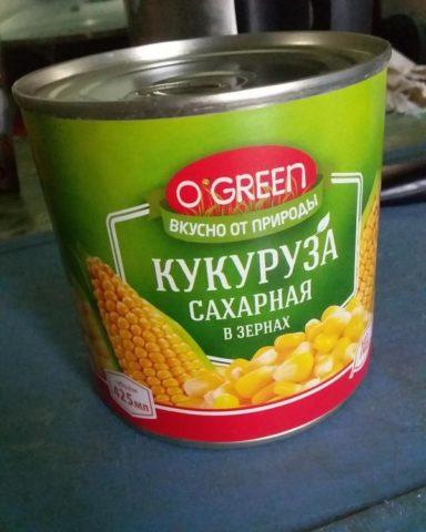 """O'green"" кукуруза"