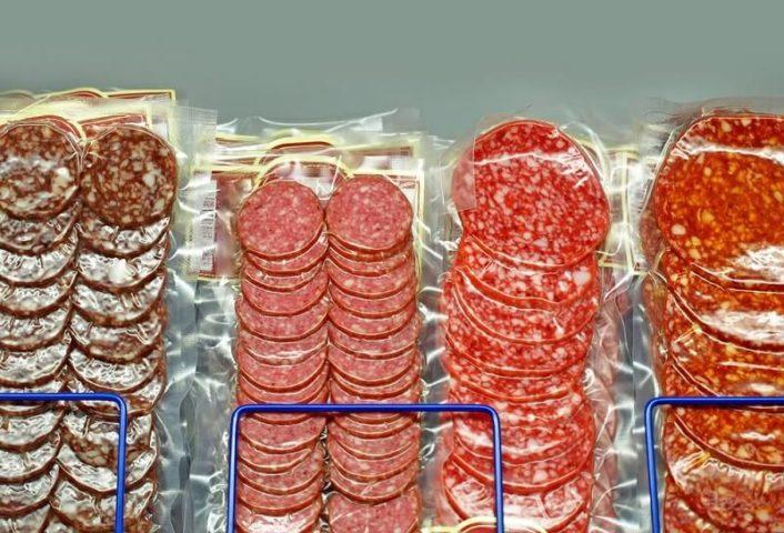 Колбасная нарезка в упаковке