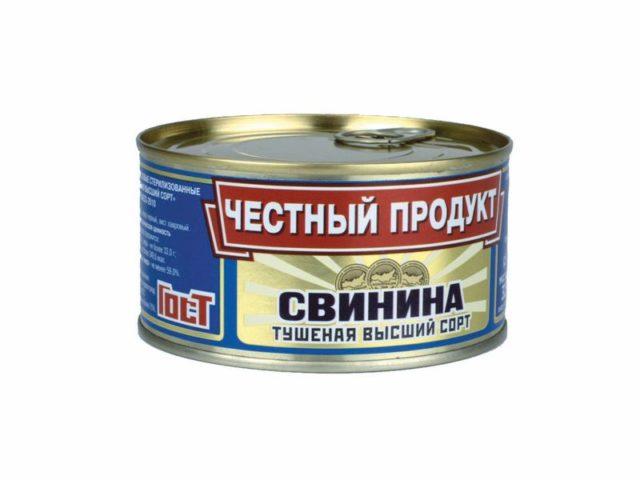 «Честный продукт» тушенка