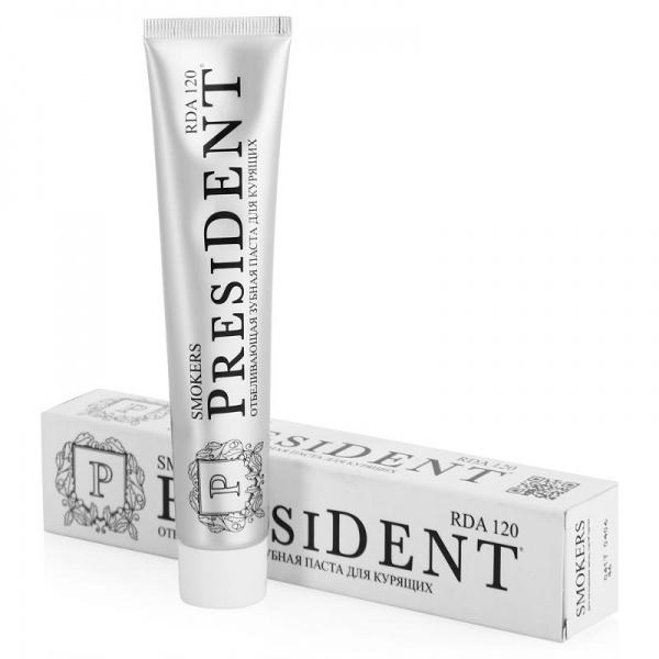 President Отбеливающая зубная паста для курящих