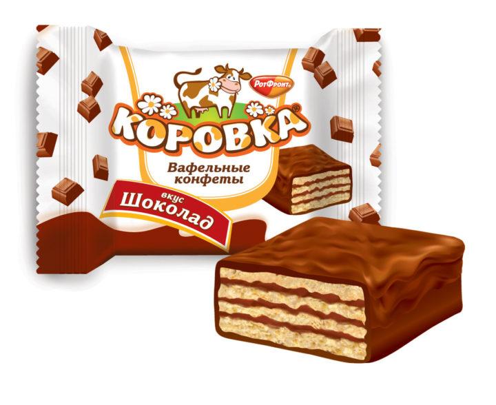 """Вафельные конфеты """"Коровка"""" Рот Фронт"""