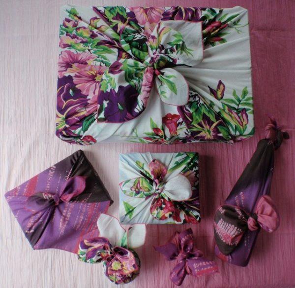 Упаковка подарков в стиле фурошики