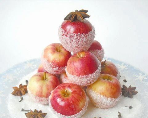 Украшение фруктов инеем