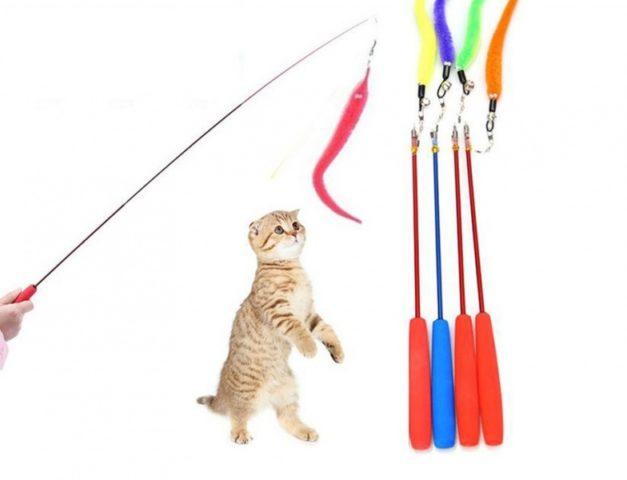 Удочки-дразнилки для кошек