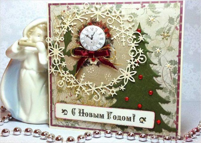 Новогодние открытки хендмейд