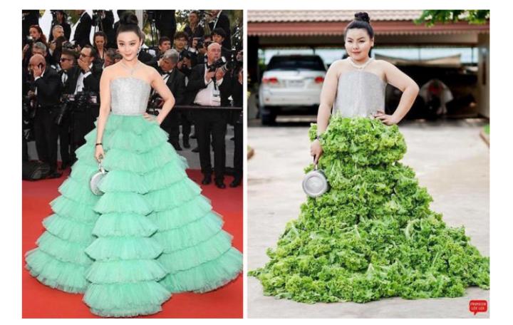 Платье из капусты