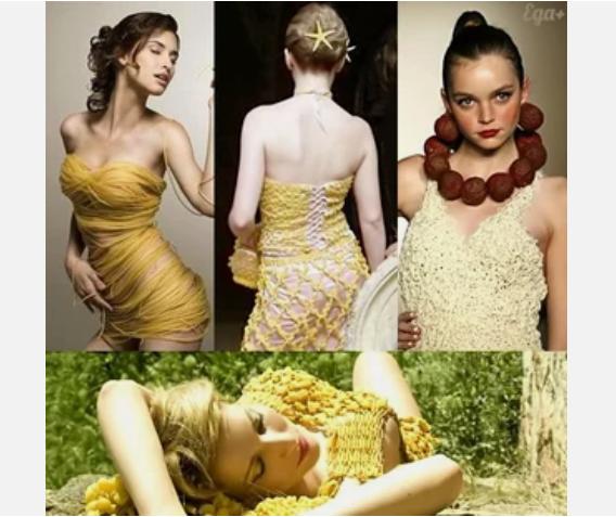 Платья из макарон