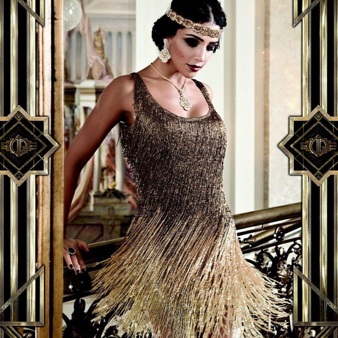 Коктейльное платье с серебристой бахромой подойдет для встречи Нового 2020 года
