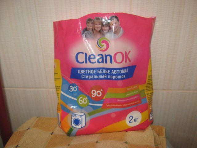Стиральный порошок CLEAN OK