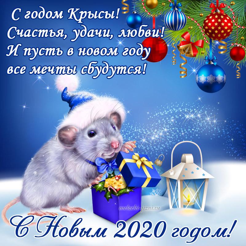 Поздравление с Новым 2020 годом Крысы