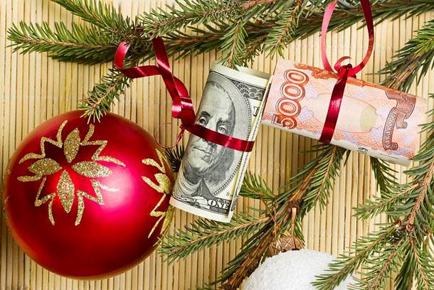 Для привлечения богатства елку можно украсить денежными купюрами