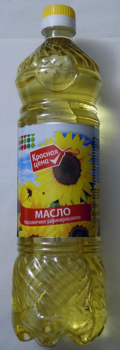 """Масло подсолнечное рафинированное """"Красная цена"""""""