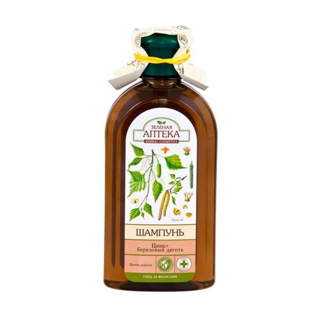 Зеленая аптека Шампунь «Цинк + Березовый деготь»