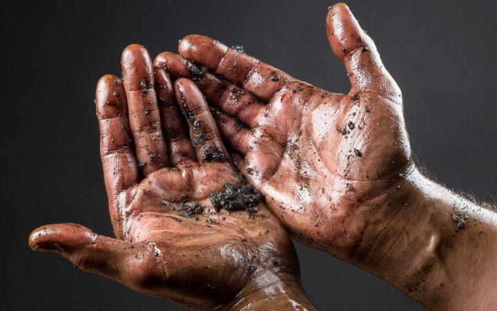 Майонез для сильно загрязненных рук