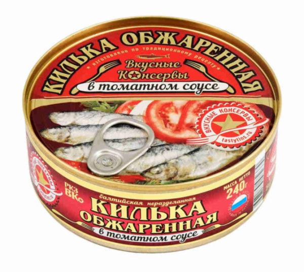 Килька в томате «Вкусные консервы» производства ООО РК «За Родину»