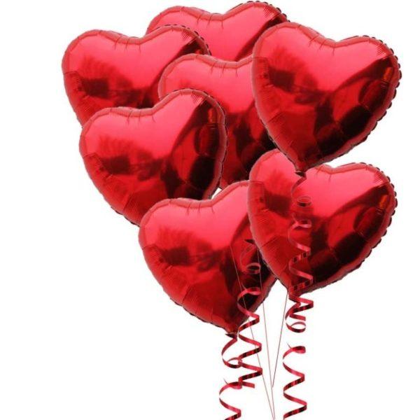 Шарики в форме сердца
