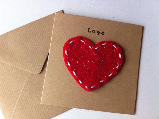 Валентинка в виде конвертика