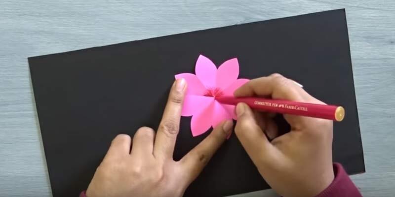 Изготовление объемной валентинки. Этап 4