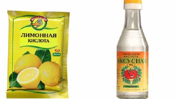 Лимонная кислота и уксус для стирки