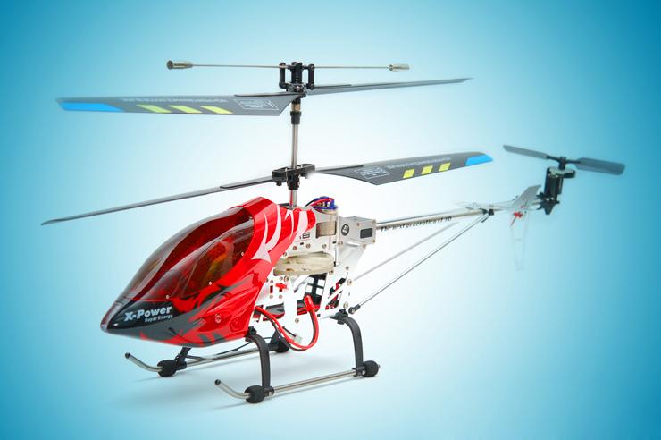 Вертолет на радиоуправлении можно подарить близким или членам семьи