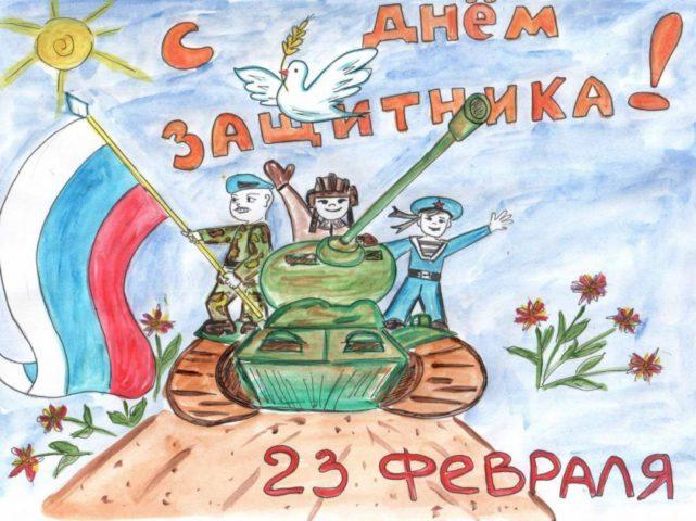 На рисунках обычно изображают военную технику, солдат и прочие сюжеты, связанные с армейской жизнью