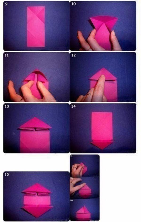 Изготовление валентинки в технике оригами