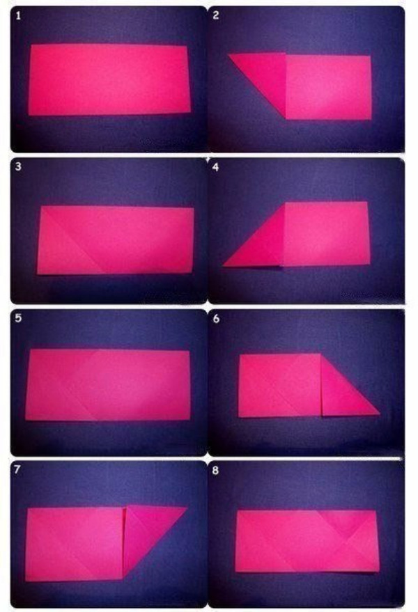 Изготовление валентинки в технике оригами.