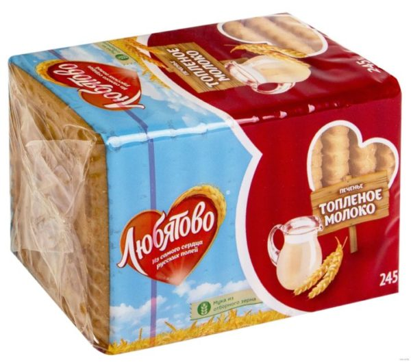 «Любятово» печенье «Топленое молоко»