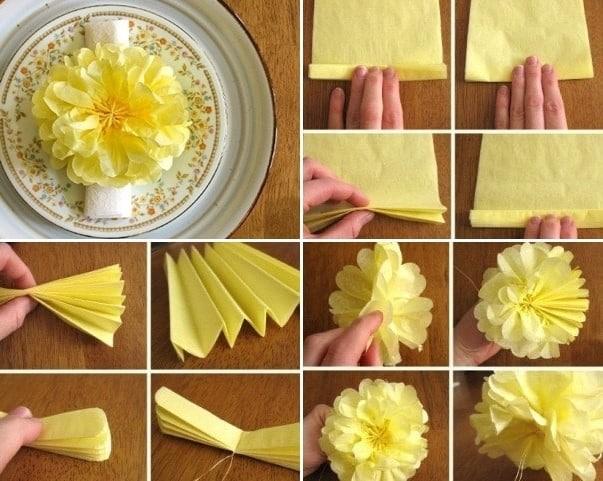 Пошаговый мастер-класс - цветок из салфеток