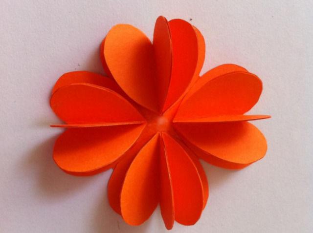 Цветы из бумаги шаг 5