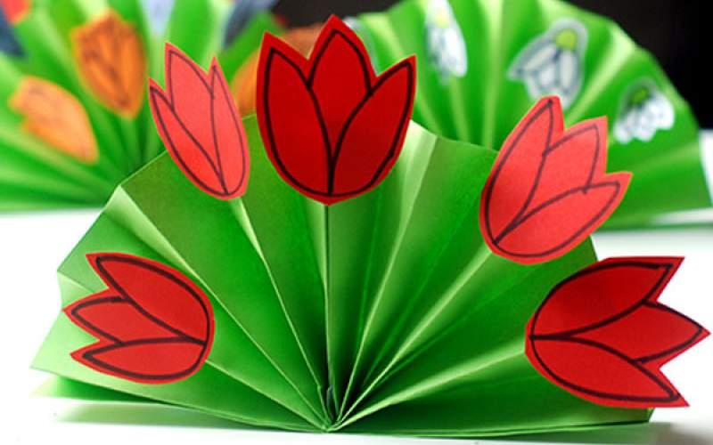 Поделка из бумаги тюльпаны