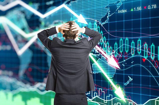 Падение курса ценных бумаг