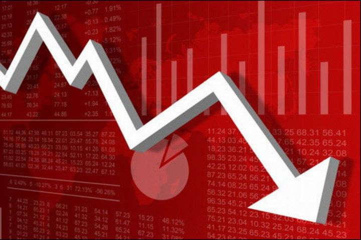 Кривая падения курса валют